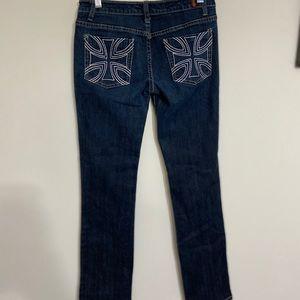 Sky Jeans 9/10 Dark Wash Jeans Straight Cut